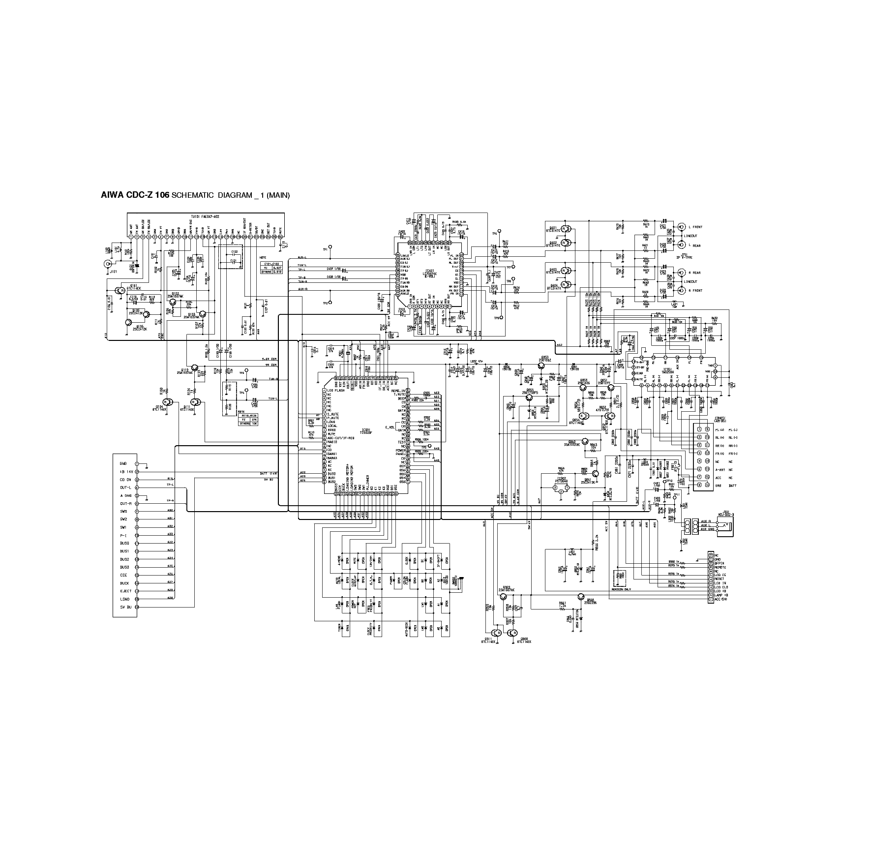 aiwa cdc wiring diagram