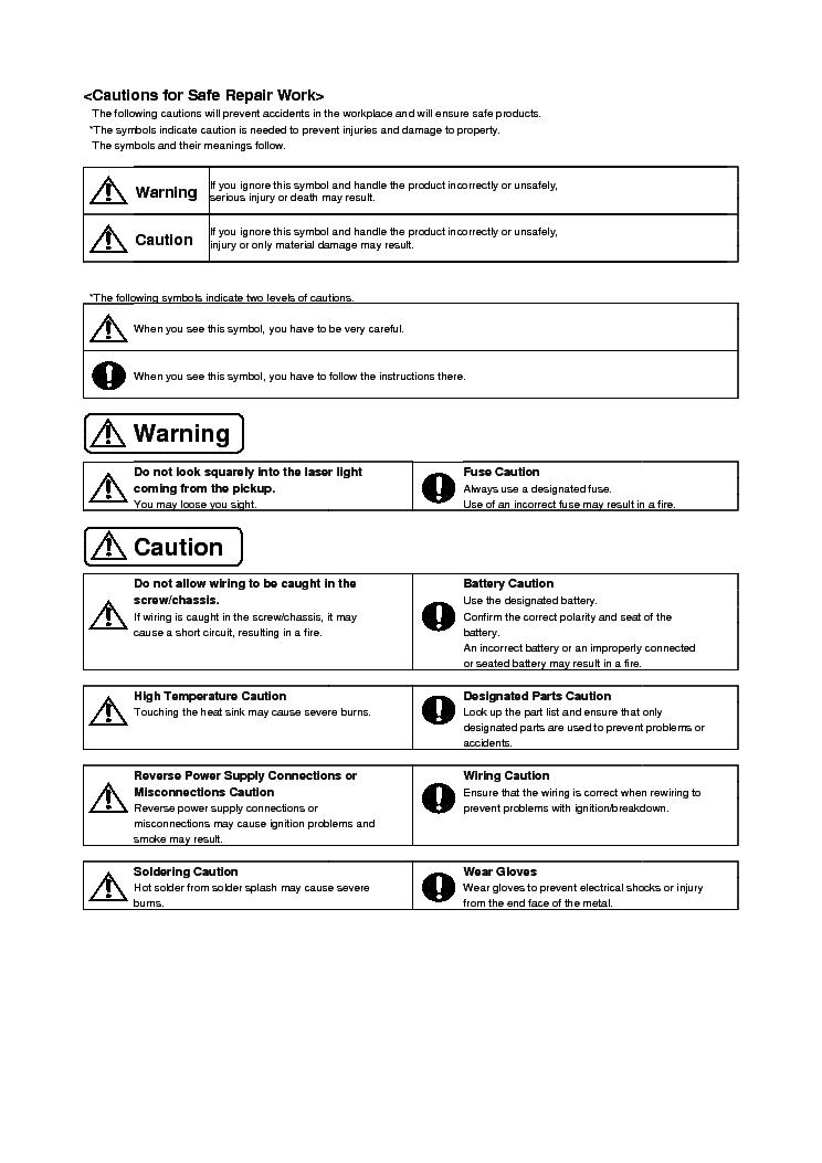 alpine cda-105ri service manual (2nd page)