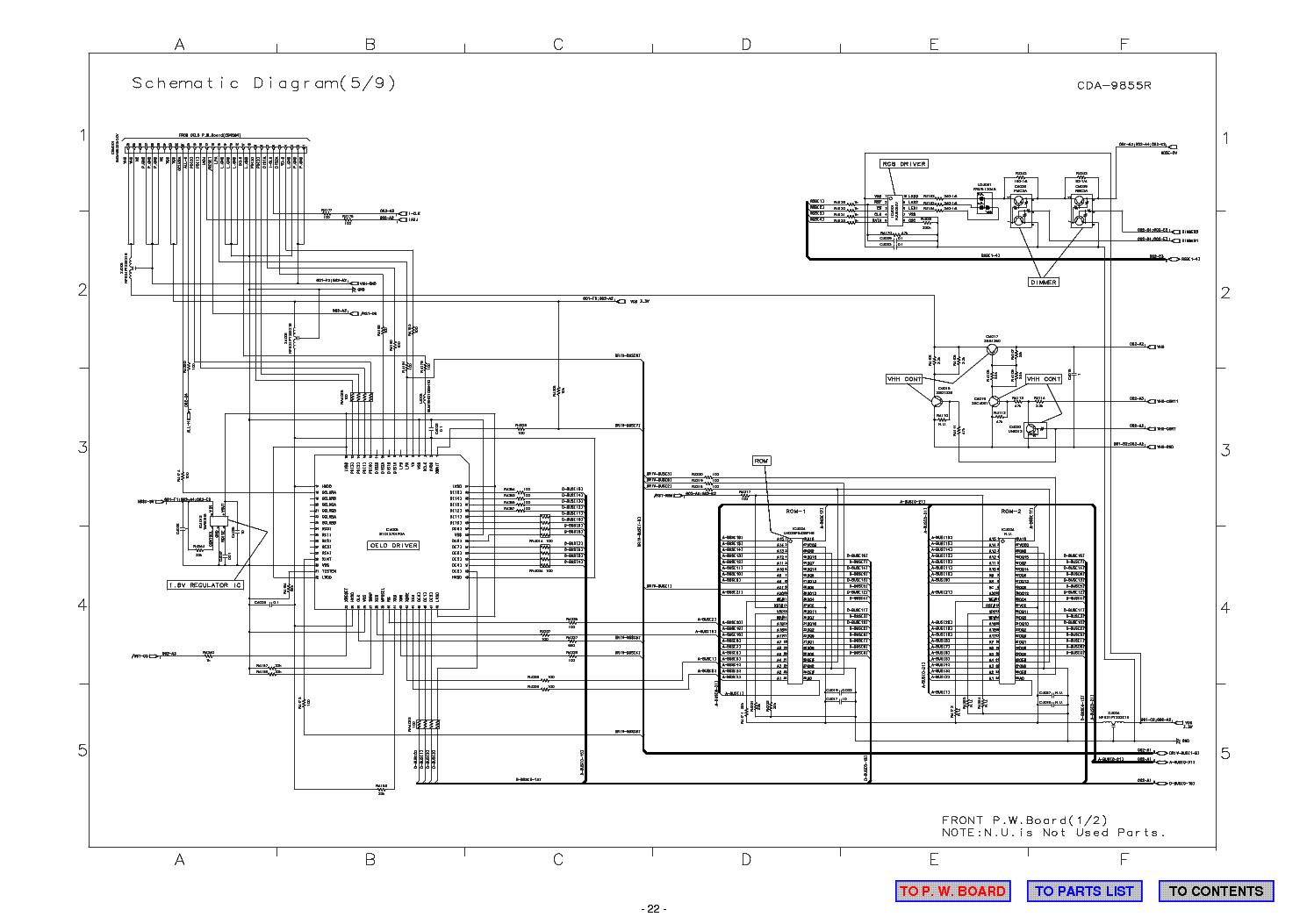 Alpine cda-9852rb схема