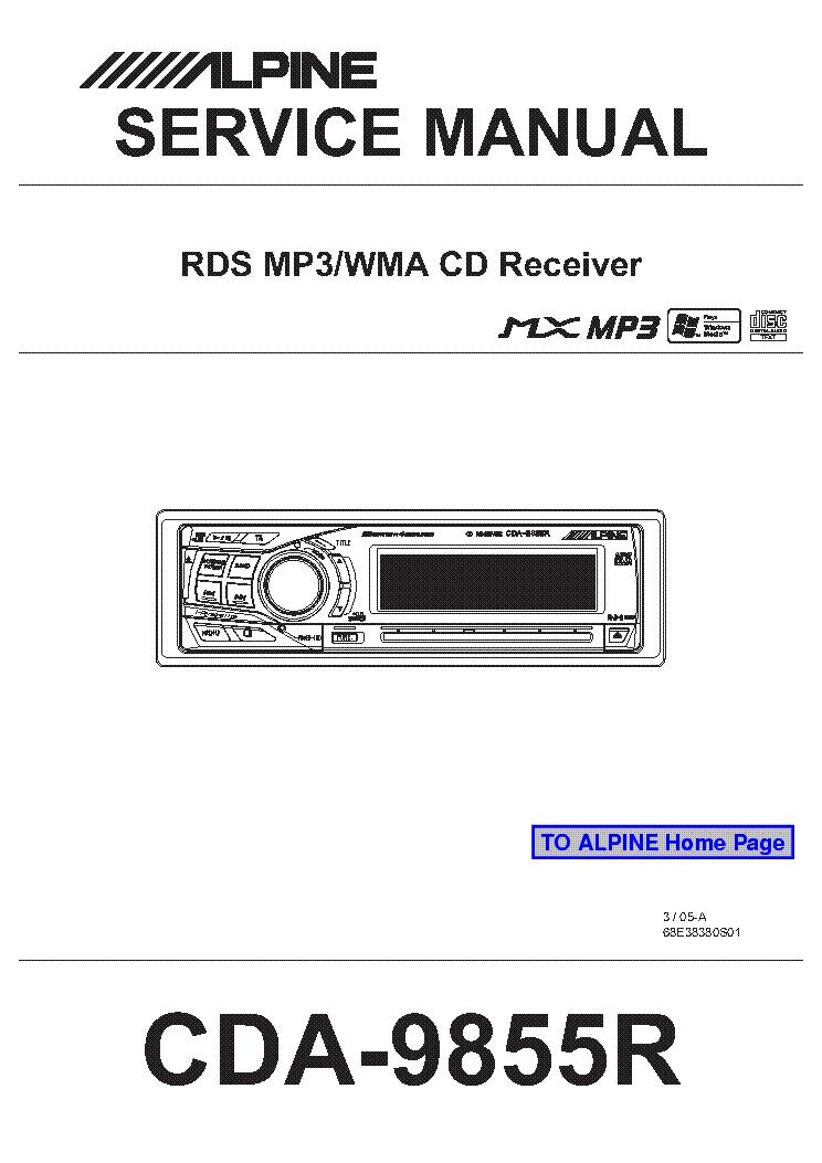 alpine cda 9855r sm service manual download schematics eeprom rh elektrotanya com alpine cda 9855r manual alpine cda 9855r manual