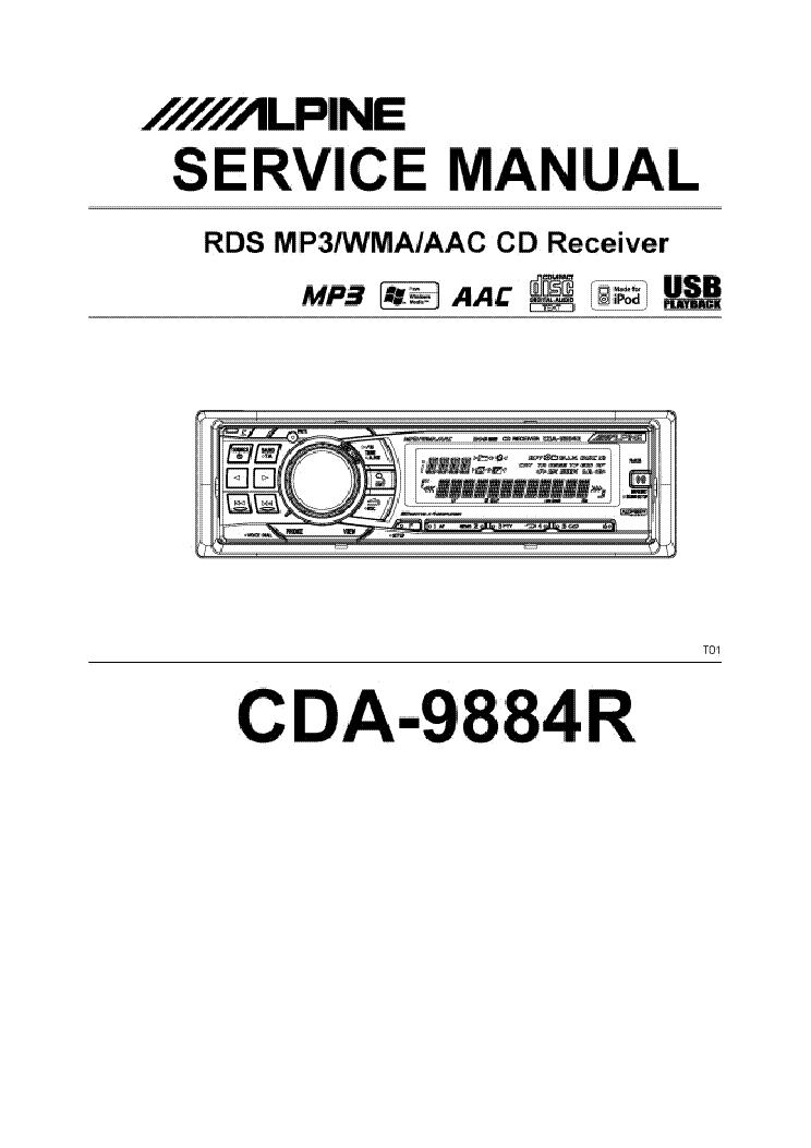 ALPINE CDA-9884R Service Manual download, schematics, eeprom, repair ...