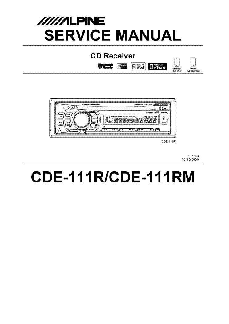 Alpine cde 111rm manual
