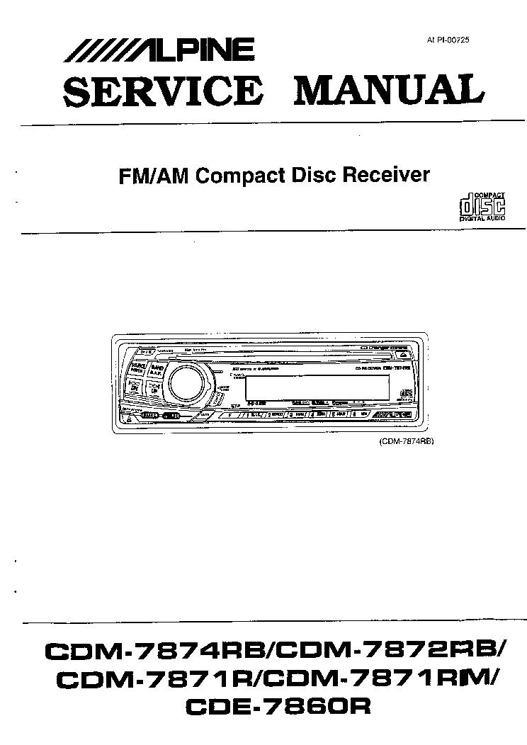 ALPINE CDE-7860R