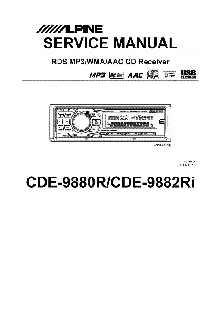 alpine cde 9880r cde 9882ri sm service manual download. Black Bedroom Furniture Sets. Home Design Ideas