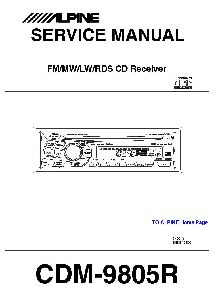 Инструкция Cd Ресивер Alpine 7856R