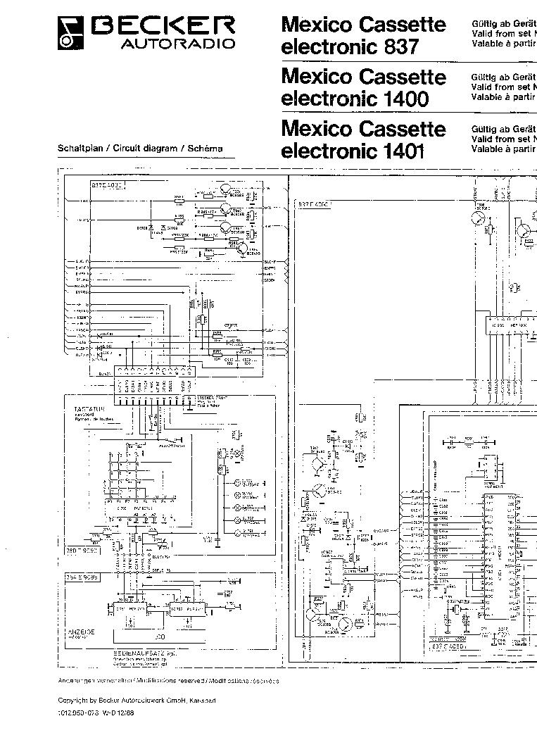 becker mexico 837 1400 1401 sch service manual download
