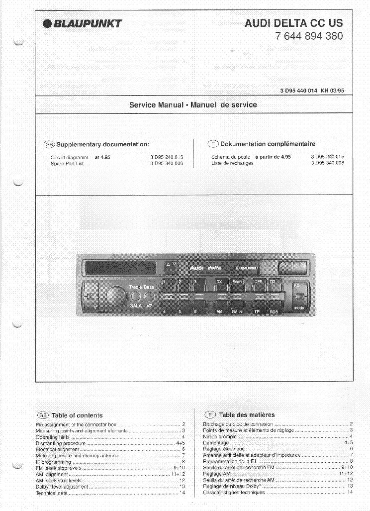 blaupunkt audi delta cc sm no sch service manual download rh elektrotanya com
