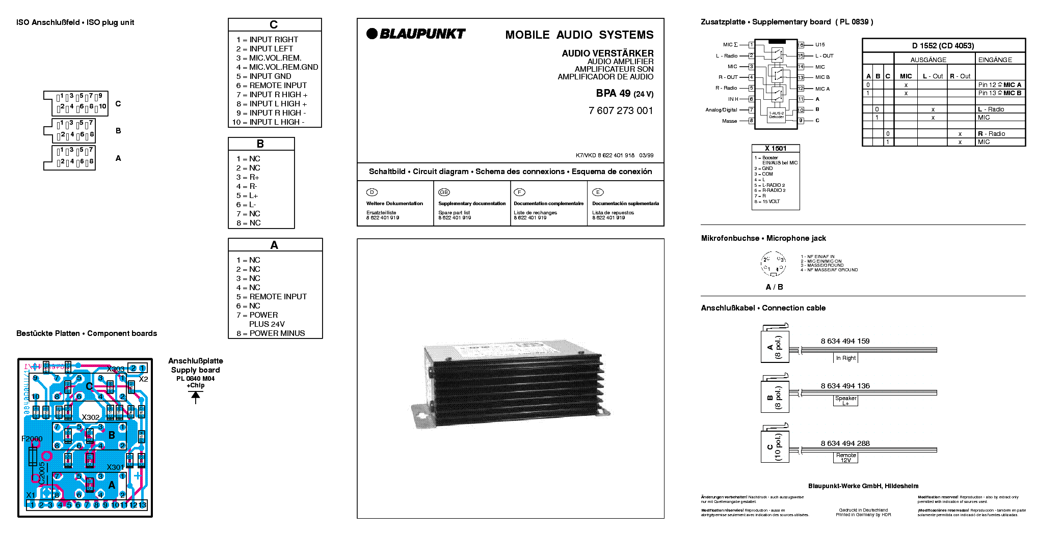 blaupunkt bpa 49 24v sch service manual download. Black Bedroom Furniture Sets. Home Design Ideas
