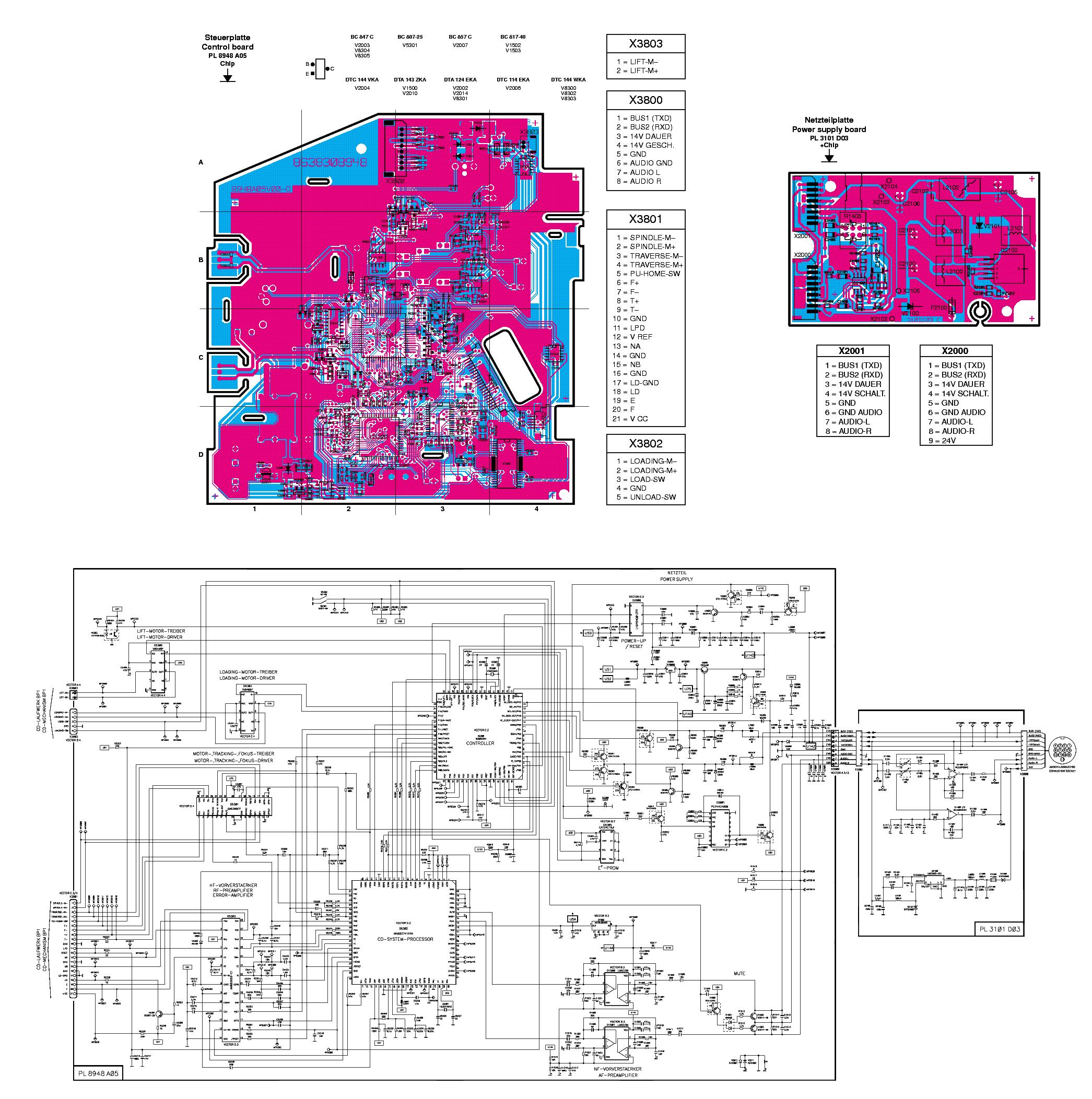 BLAUPUNKT CDC-A08 Service Manual download, schematics