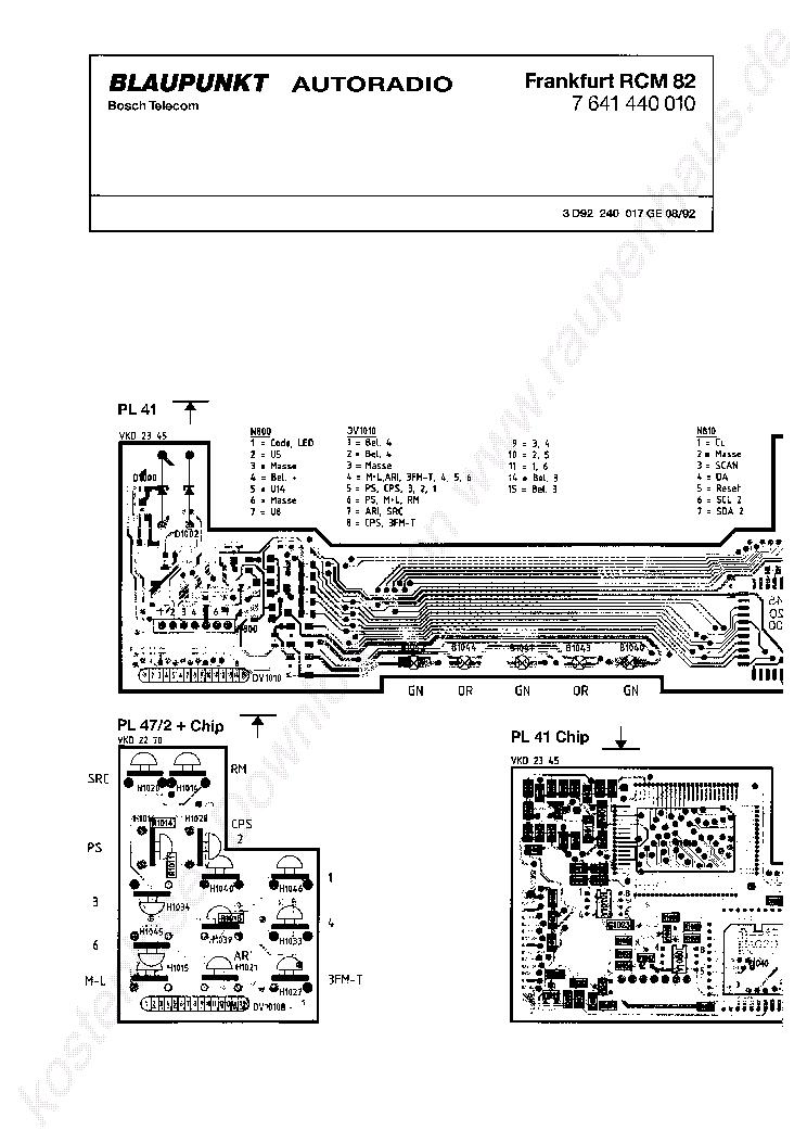blaupunkt frankfurt rcm