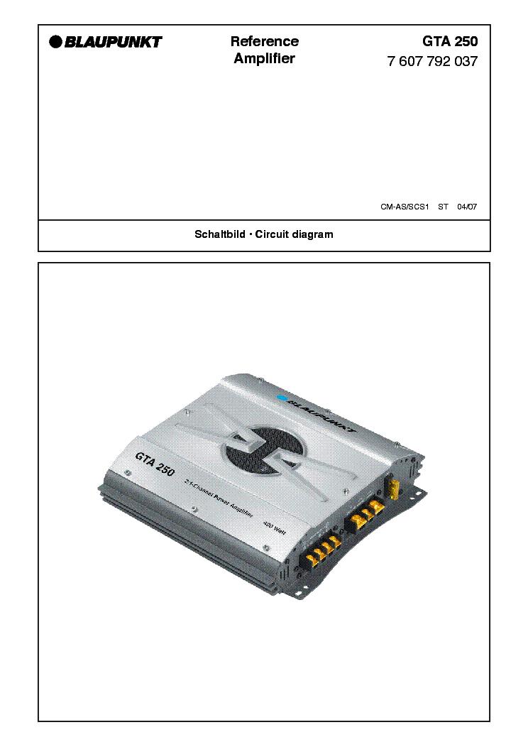 Инструкция К Усилителю Blaupunkt Gta 475