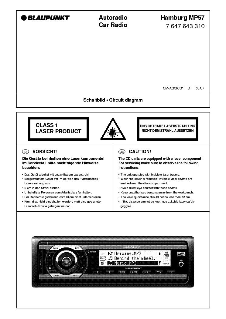 Blaupunkt hamburg mp57 manual