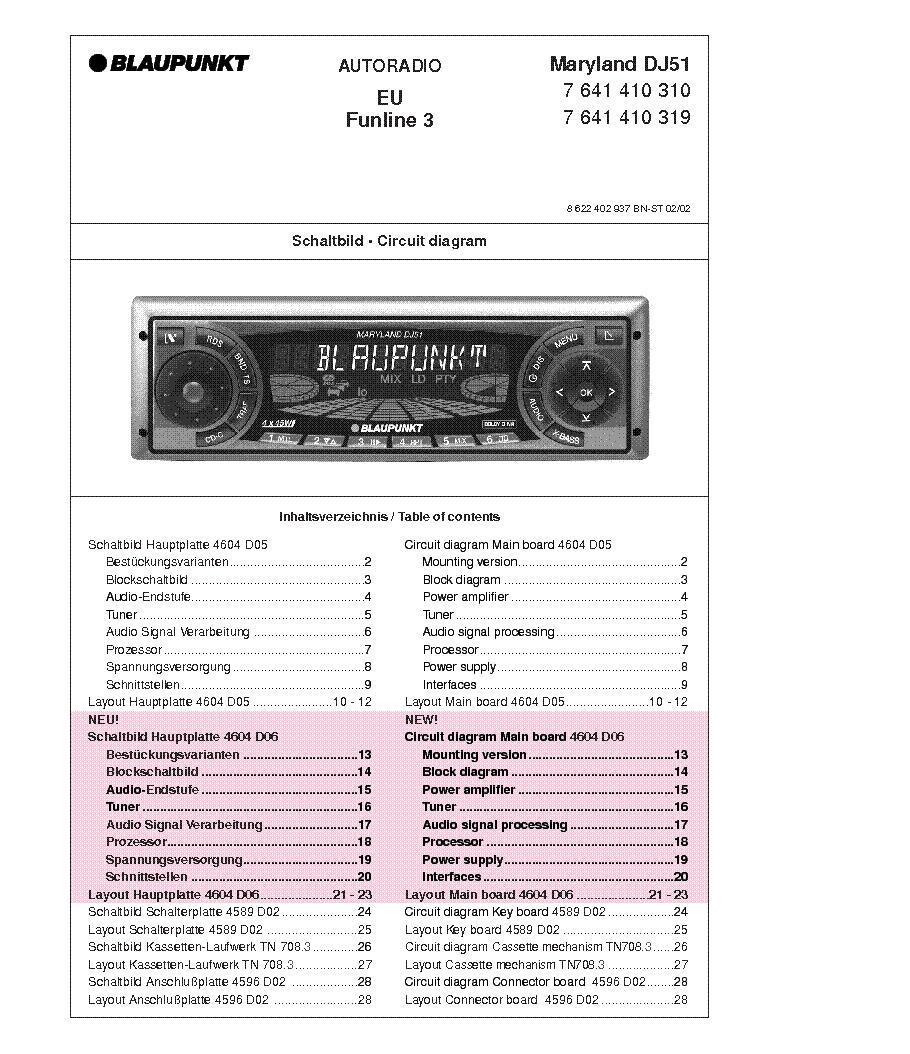 BLAUPUNKT MARYLAND-DJ51 service manual (1st page)