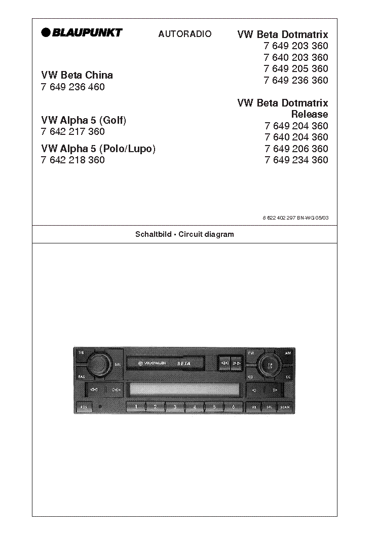 blaupunkt_vw.alpha5.pdf_1 blaupunkt 568 wiring diagram blaupunkt 568 wiring diagram \u2022 45 63  at edmiracle.co