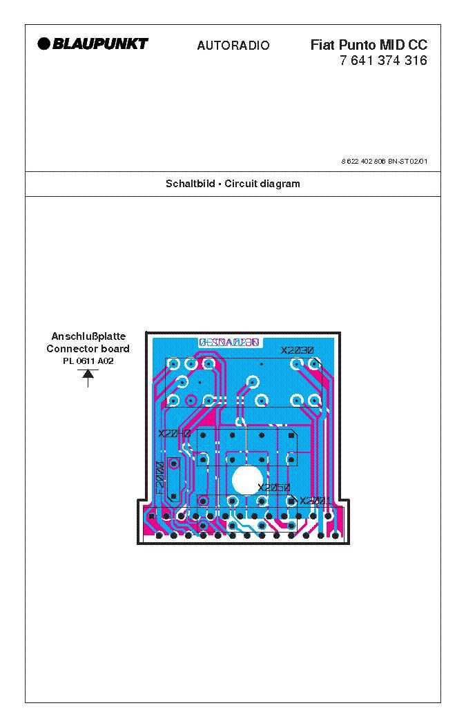 FIAT PUNTOMIDCCBLAUPUNKTCARAUDIO Service Manual download