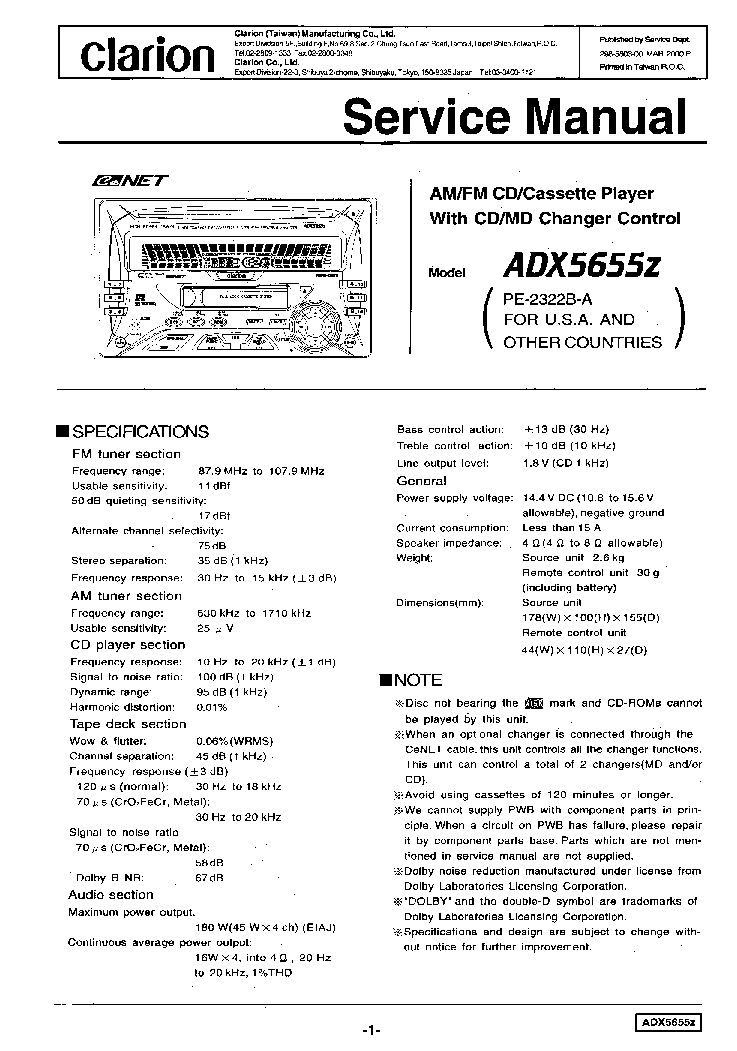 clarion_adx5655z.pdf_1 clarion adx5655z service manual download, schematics, eeprom clarion adx5655z wiring diagram at cos-gaming.co