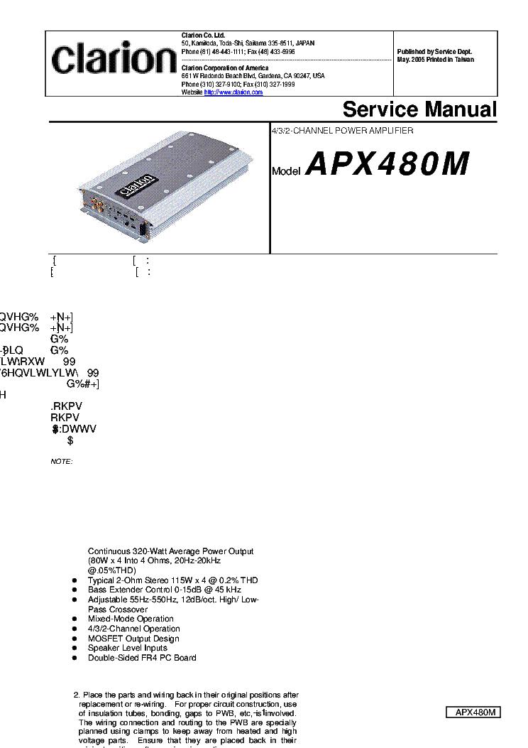 Clarion stereo repair user manuals array clarion apx480m sch service manual download schematics eeprom rh elektrotanya com fandeluxe Images