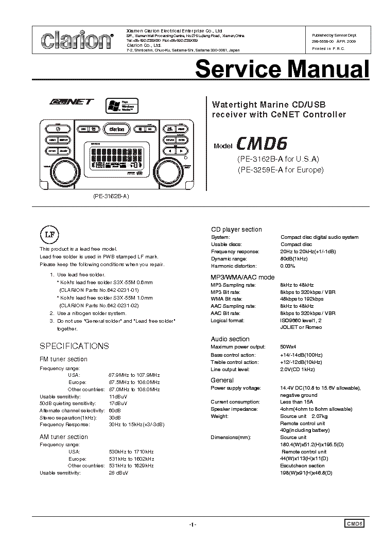 clarion_cmd6.pdf_1 clarion xdz wiring diagram conventional fire alarm wiring diagram clarion dxz385usb wiring diagram at arjmand.co