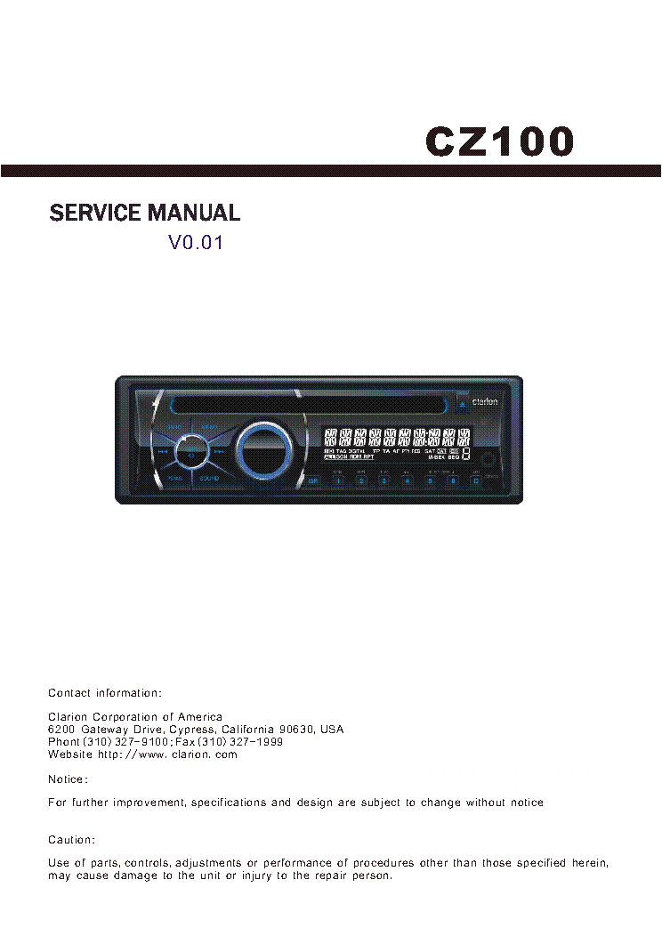 clarion cz100 service manual download schematics eeprom repair rh elektrotanya com CZ 100 40 S&W Pistol CZ 100 9Mm