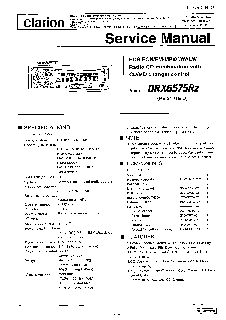 clarion_drx6575rz_sm.pdf_1 wiring diagram for clarion dxz725 wiring diagram for clarion clarion vz401 wiring harness at gsmportal.co