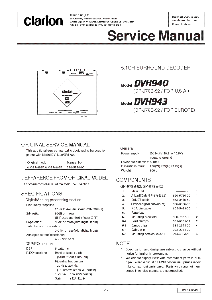 clarion_dvh940_dvh943_e6141 00_parts.pdf_1 vrx935vd wiring diagram wiring diagram and schematic solve clarion clarion vrx935vd wiring diagram at reclaimingppi.co
