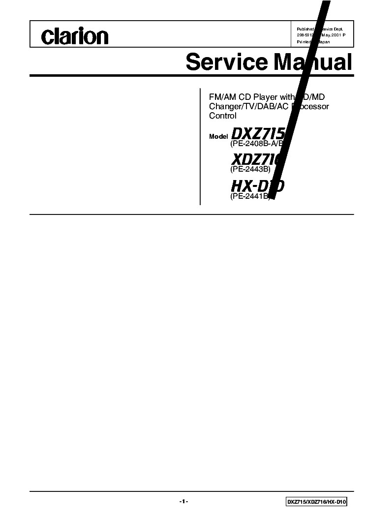 clarion_dxz715_hx d10_xdz716.pdf_1 vrx935vd wiring diagram wiring diagram and schematic clarion vrx935vd wiring diagram at reclaimingppi.co