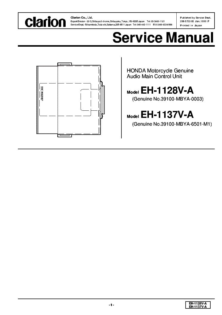 clarion max675vd sm service manual schematics clarion eh1128va 1137va