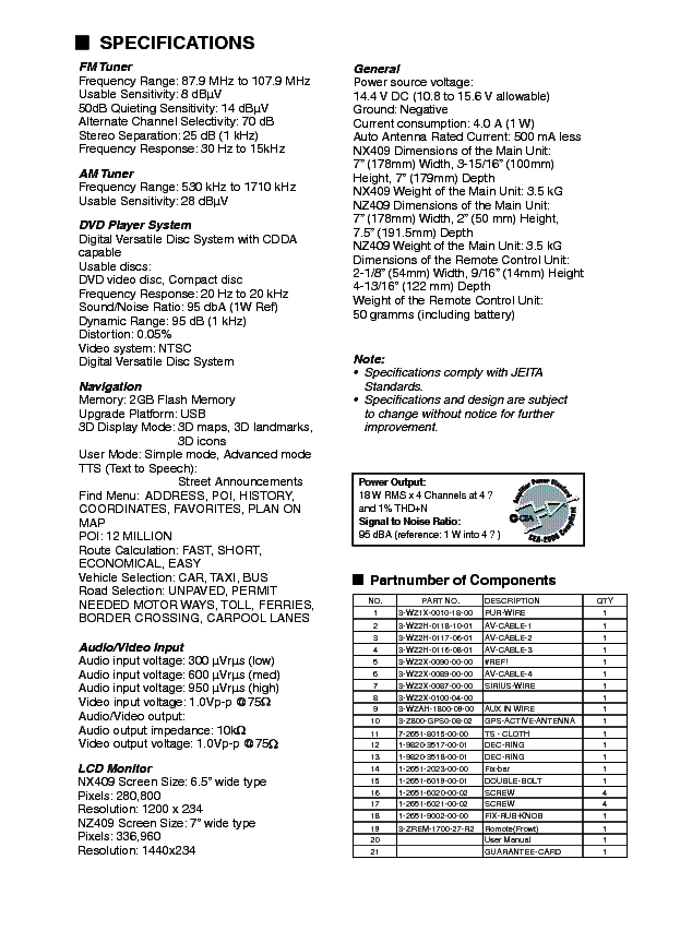 clarion nx409 service manual download  schematics  eeprom