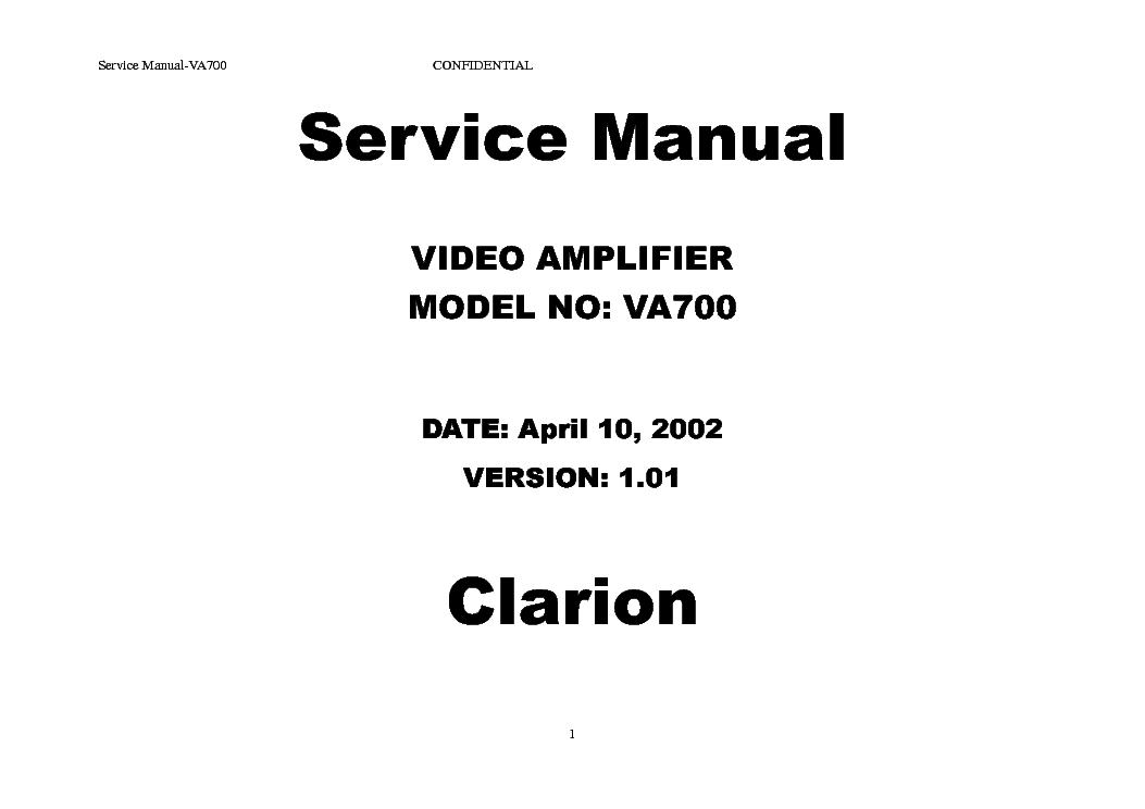 clarion cx609 a service manual free download  schematics