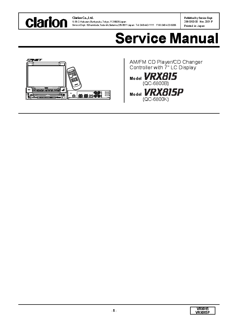 clarion_vrx815_p.pdf_1 clarion vrx815 p service manual download, schematics, eeprom clarion dxz385usb wiring diagram at arjmand.co