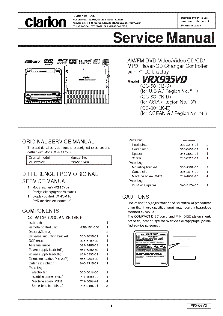 clarion_vrx935vd_sm_no sch.pdf_1 vz wiring diagram efcaviation com wiring diagram for clarion car stereo at readyjetset.co