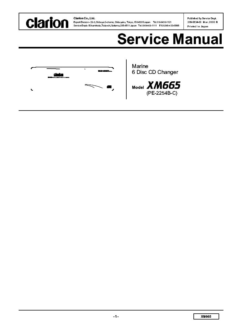 CLARION PS3024KA Service Manual download, schematics, eeprom, repair ...