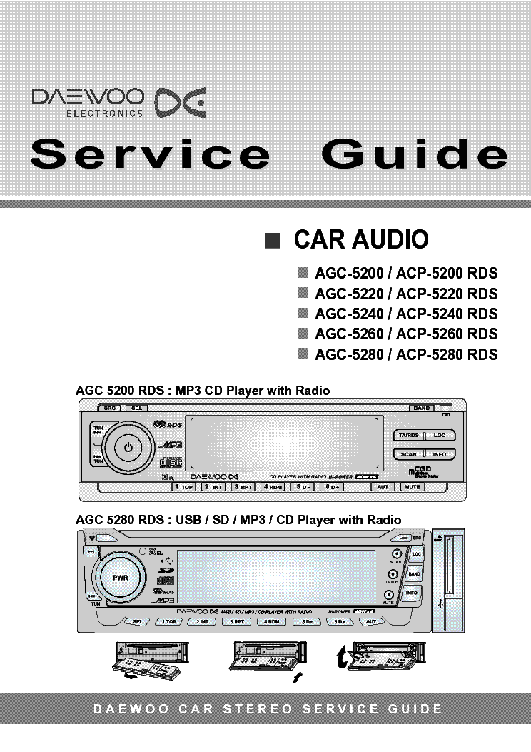 Магнитола daewoo agc 5280 инструкция