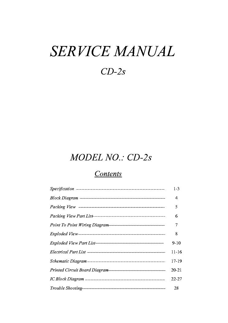 CITRONIC CD-2S CAR DUAL CD PLAYER Service Manual download ...