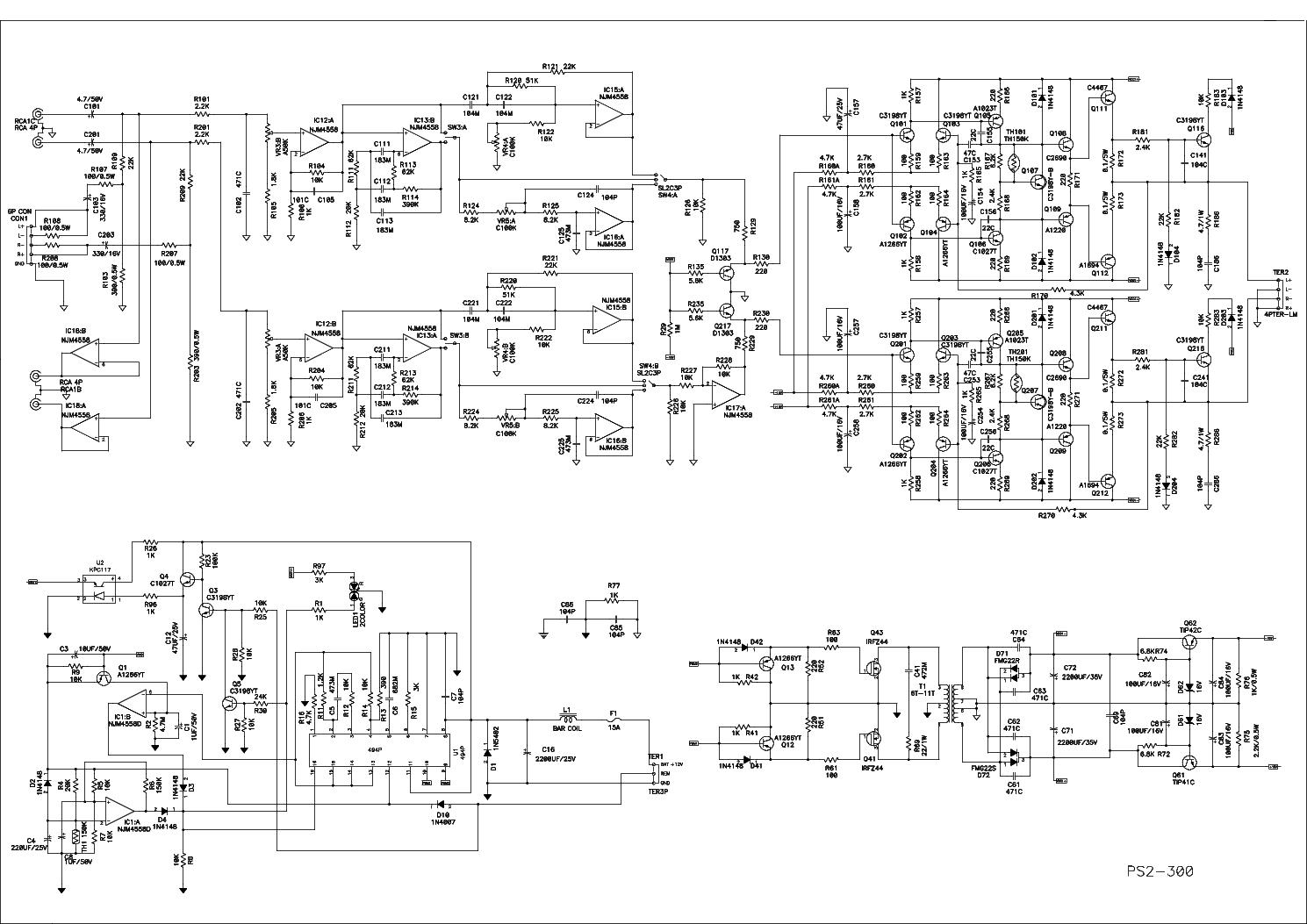 power acoustik ps2 300 ps4 600 ps2 1600 ps2 1200 ps2 820 ps2 520 ps2 rh elektrotanya com ps2 slim power supply schematic