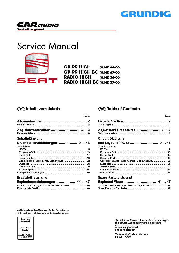 grundig gp99 radio high bc service manual download schematics rh elektrotanya com service manual seat ibiza 2004 service manual seat ibiza 6j