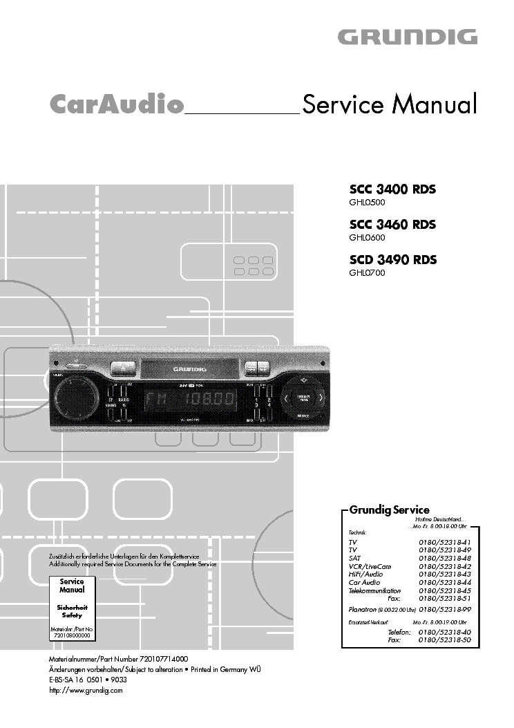 Грюндик 3400 Инструкция