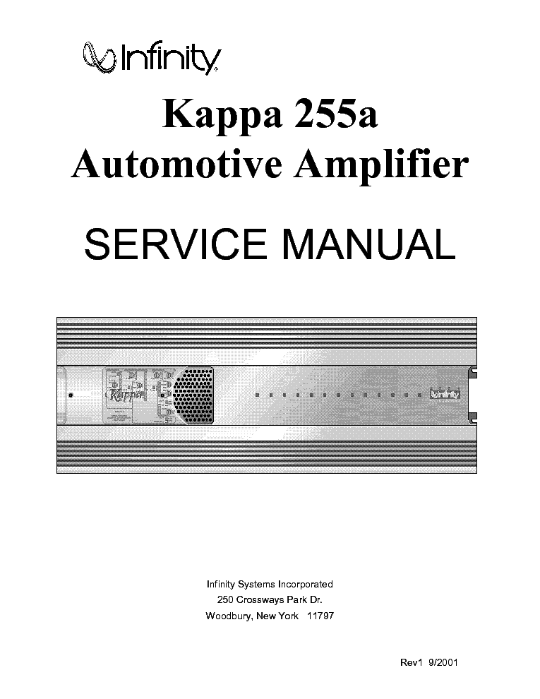 infinity kappa 255a car amplifier service manual download  schematics  eeprom  repair info for