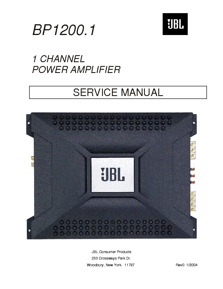 JBL BP1200.1 SM service manual (1st page)