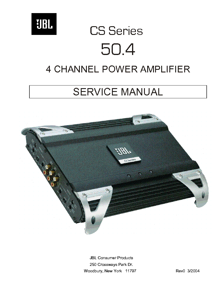 jbl cs series 50 4 power amplifier sm service manual download rh elektrotanya com JBL 6000 Watt Amplifier JBL Amplifier Review