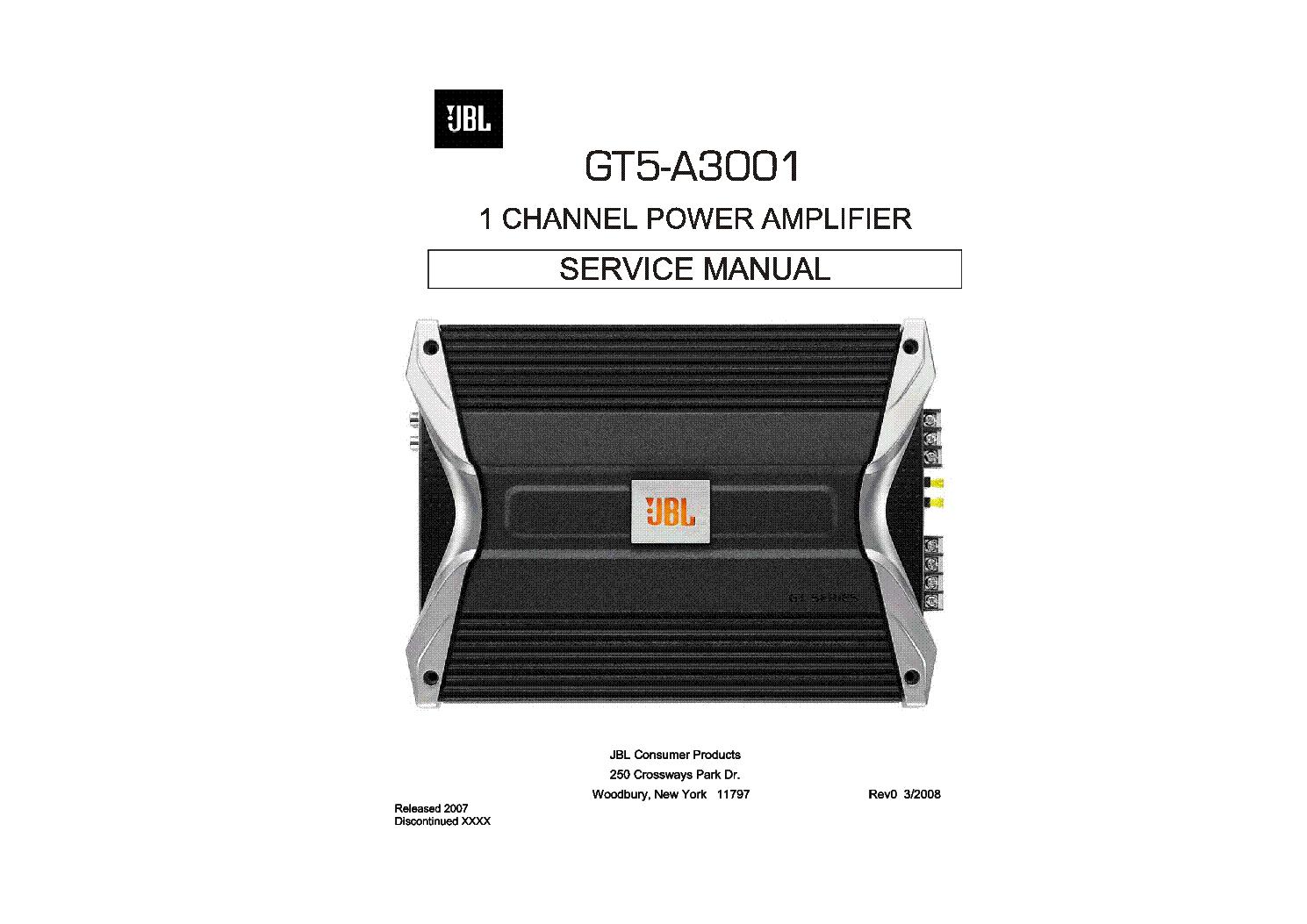 jbl gt5 a3011 car power amplifier sm service manual download rh elektrotanya com JBL Amplifier Repair JBL Home Amplifiers