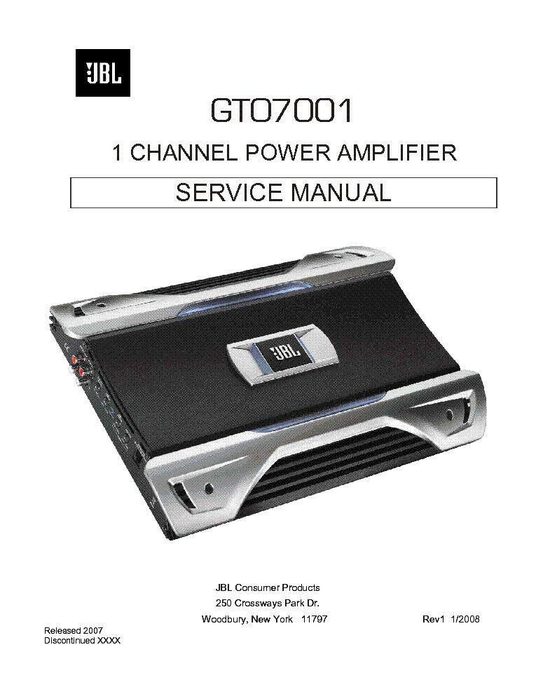 JBL BP600.1 SM Service Manual download, schematics, eeprom ... on