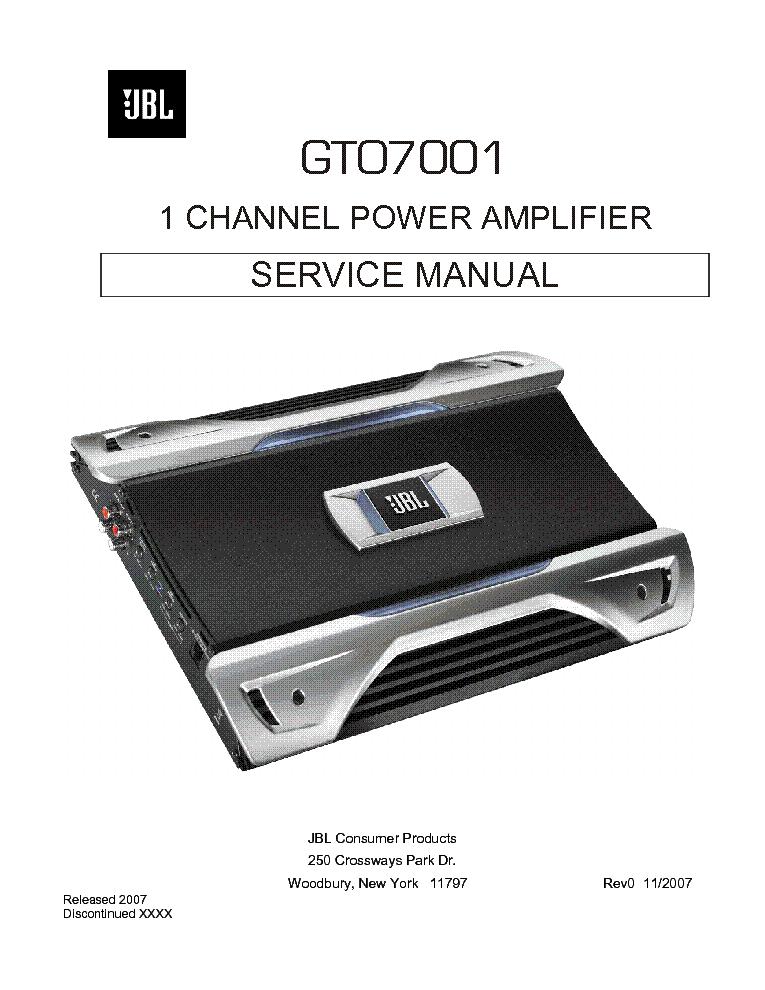 jbl gto7001 sm service manual download schematics eeprom repair rh elektrotanya com jbl gto 7001 service manual