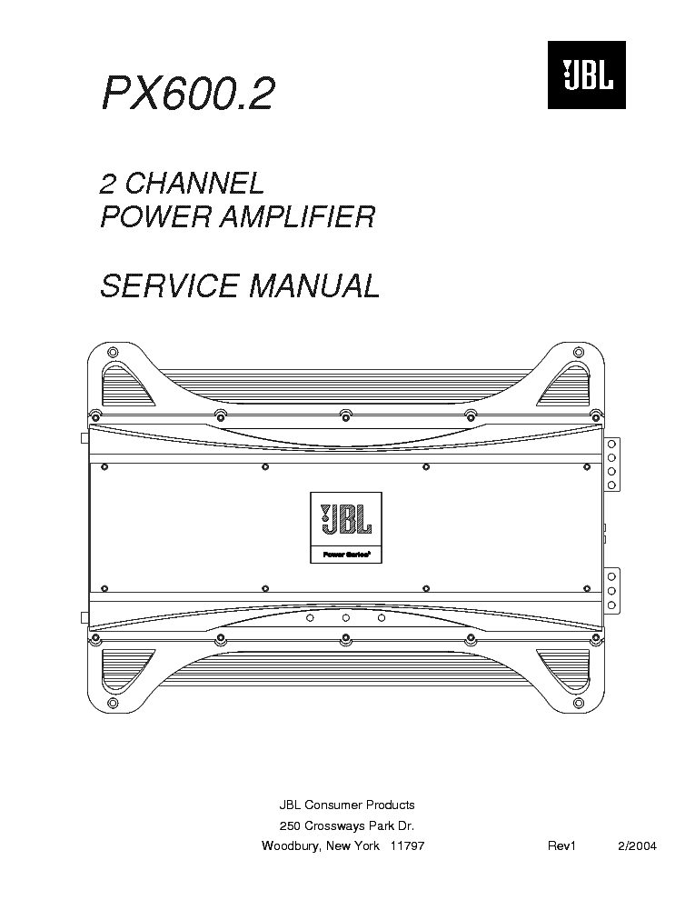 Jbl Px600 2 Sm Service Manual Download  Schematics  Eeprom