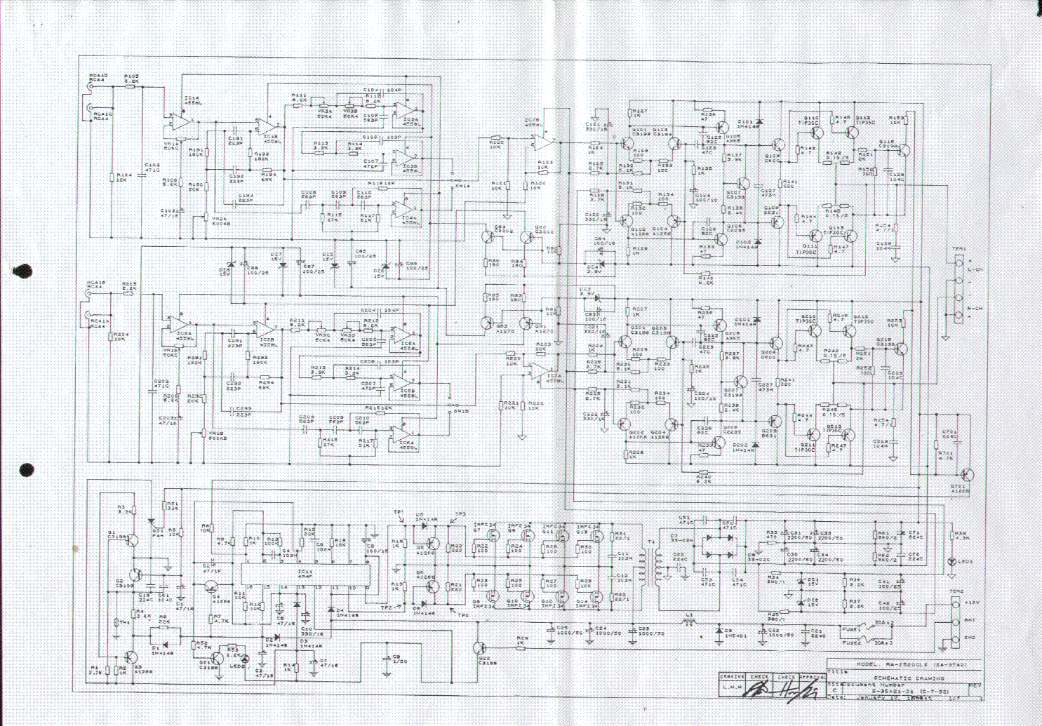 Jensen Ra 2520 Clx Sch Service Manual Download Schematics