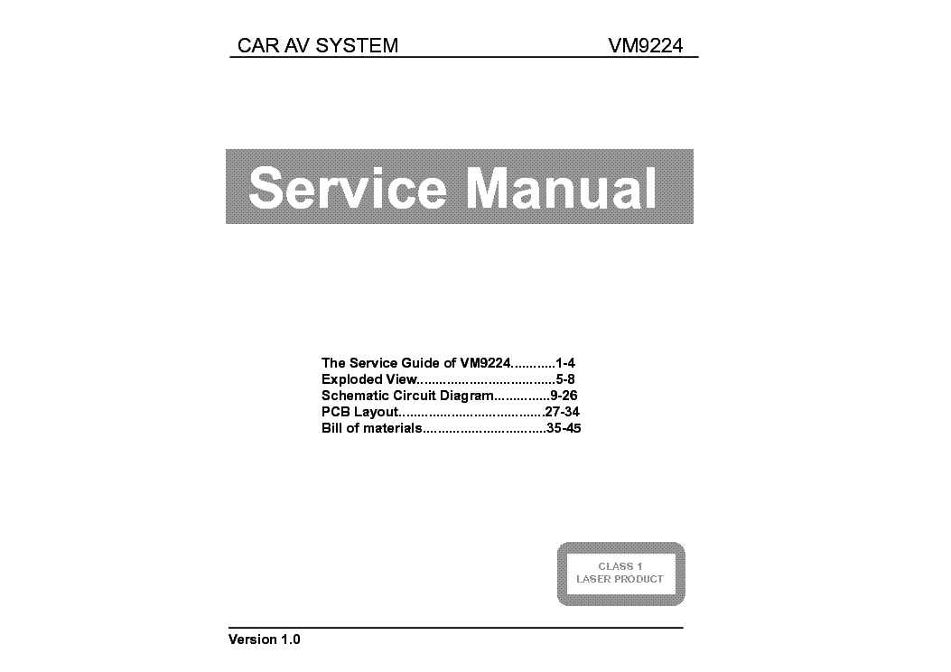 Peachy Jensen Vm9224 Ver 1 0 Service Manual Download Schematics Eeprom Wiring Cloud Hisonuggs Outletorg