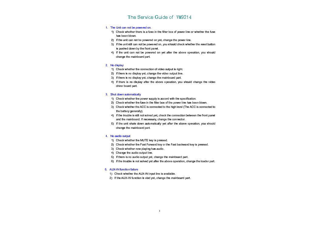 Jensen Vm 9214 Service Manual Download Schematics Eeprom