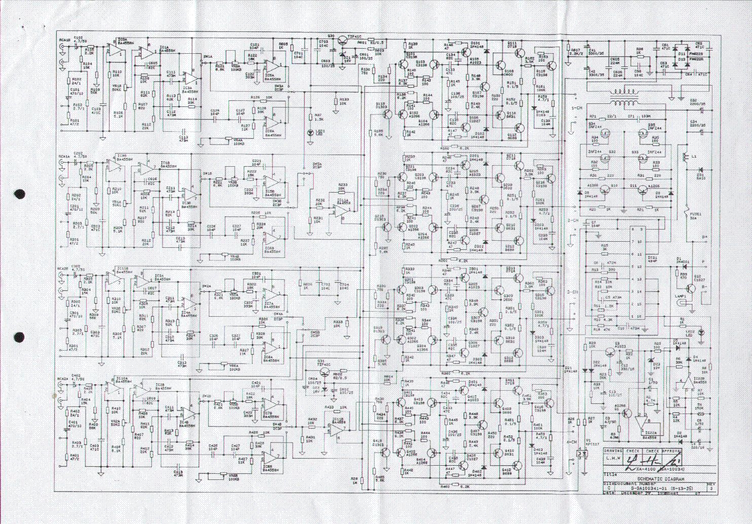 Jensen Xa 4100 Sch Service Manual Download  Schematics