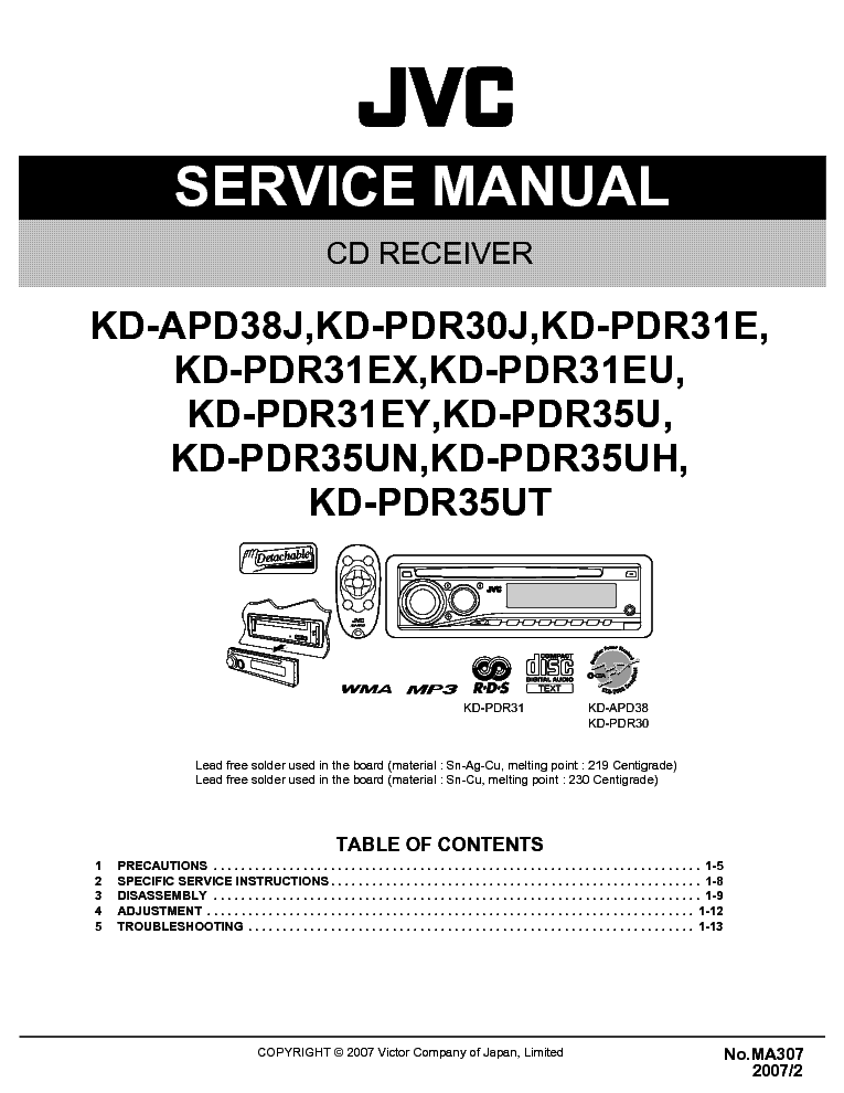 jvc_kd apd38_kd pdr30_kd pdr31_kd pdr35_ma307_sm.pdf_1 jvc kd apd38 kd pdr30 kd pdr31 kd pdr35 ma307 sm service manual jvc kd-pdr30 wiring diagram at panicattacktreatment.co