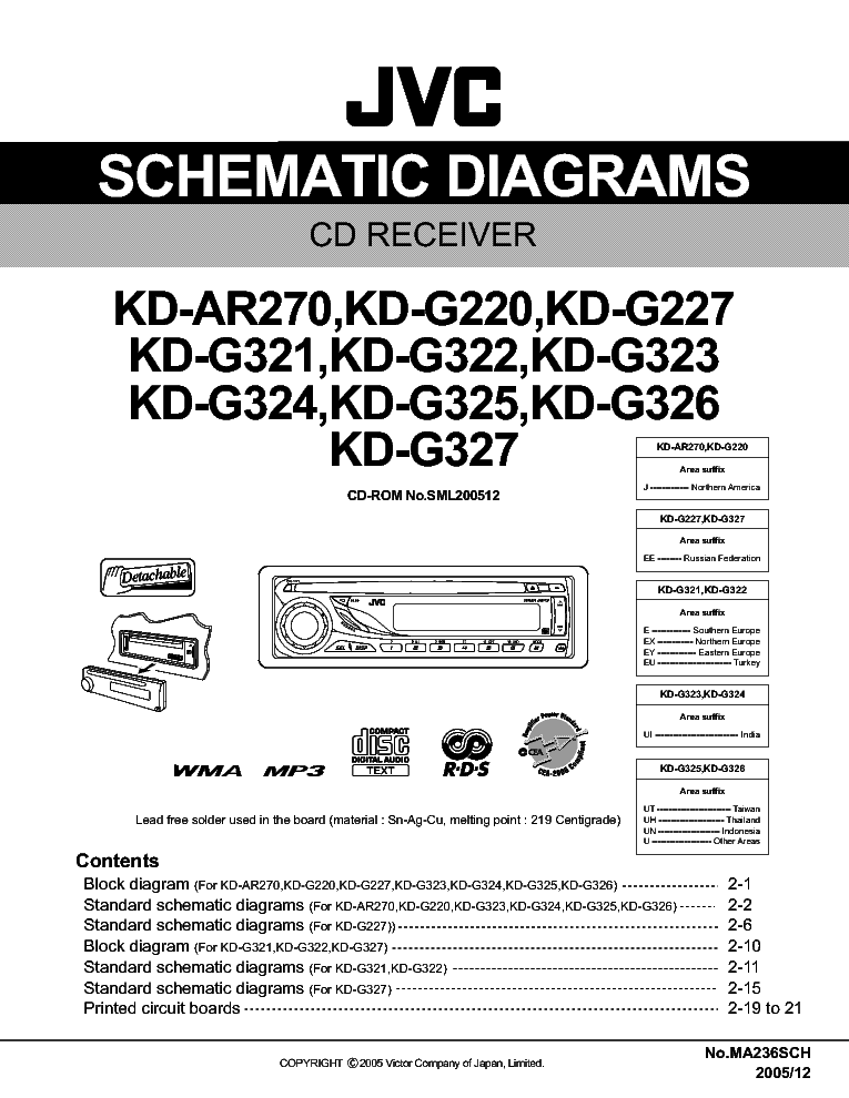 JVC KD-AR270 G220 G227 G321